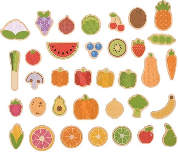 Bigjigs Toys Magnetky Ovoce a zelenina - Dekorace do dětského pokoje ... 4a2978fb5aa