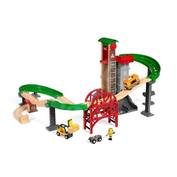 Brio World 33887 Sada Sklad se zvedacím a nakládacím zařízením  - Vláčkodráha
