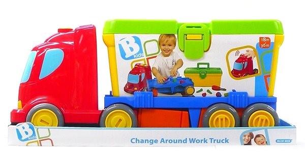 B-Kids Náklaďák sboxem na nářadí - Auto