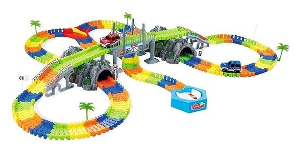 Variabilní dráha s tunely a točnou - Autodráha