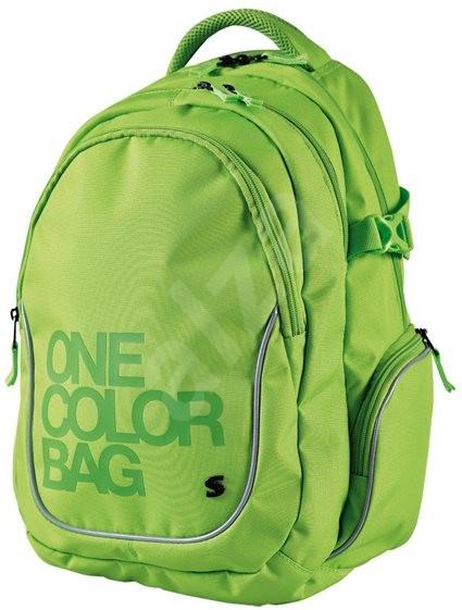 430b5c60225 Batoh Teen One Colour zelený - Dětský batoh