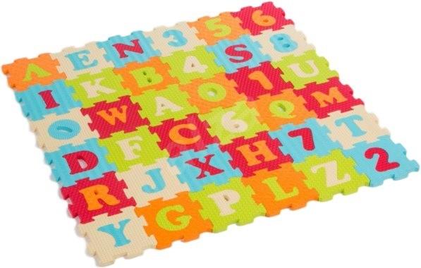 Ludi 90x90cm Písmena a čísla - Pěnové puzzle