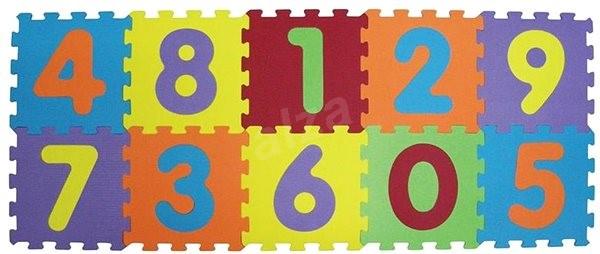 Ludi 143x48 cm Čísla - Pěnové puzzle