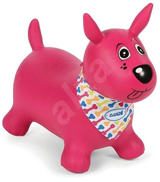 Ludi Skákací pes růžový - Dětské hopsadlo