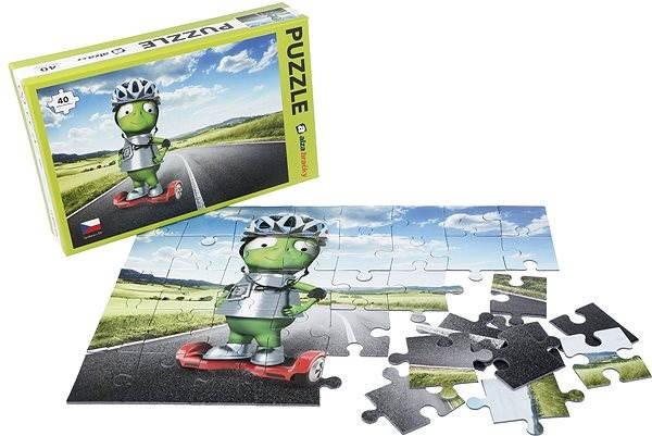 Alza Puzzle 40 dílků - Mimozemšťan Alza na Gyroboardu - Puzzle