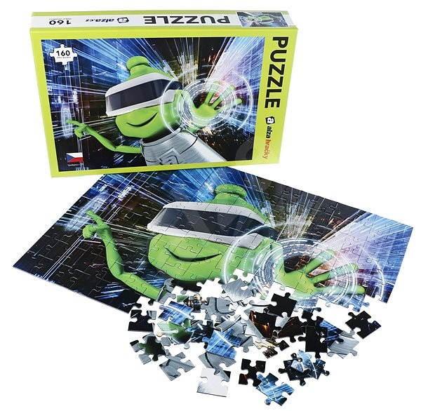 Alza Puzzle 160 dílků - Mimozemšťan Alza ve VR - Puzzle