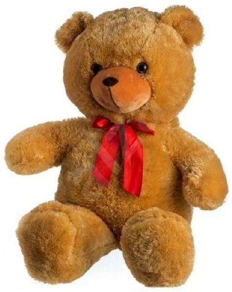 Teddies Medvěd s mašlí velký světle hnědý - Plyšová hračka