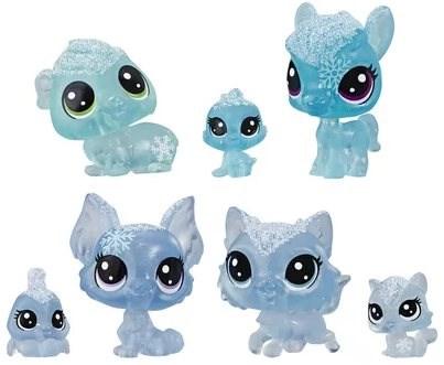 Littlest Pet Shop Zvířátka z ledového království 7ks - modrá - Herní set