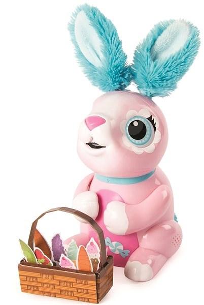 Zoomer Hladový králíček růžový - Interaktivní hračka