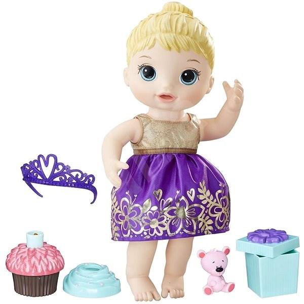 Baby Alive Narozeninová blonďatá panenka - Panenka