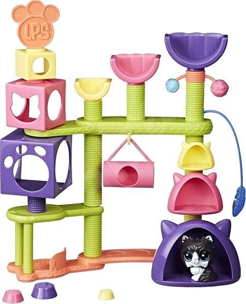 Littest Pet Shop Kočičí domeček se zvířátkem - Herní set