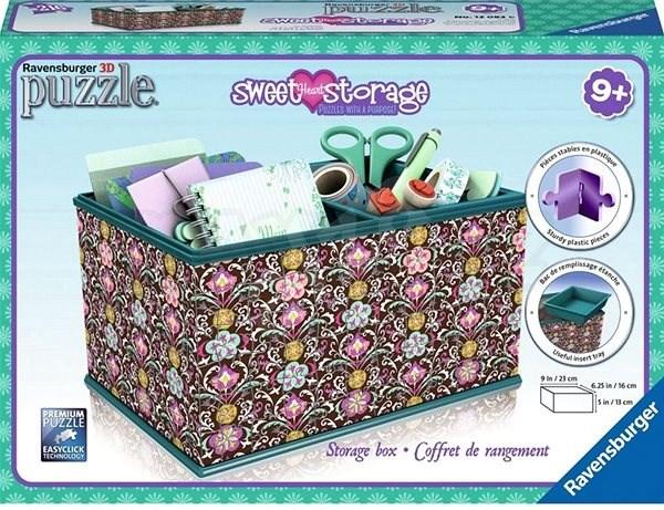 dc0b0f14a Ravensburger 3D Puzzle 120826 Úložná krabice Girly Girl Mary - 3D puzzle