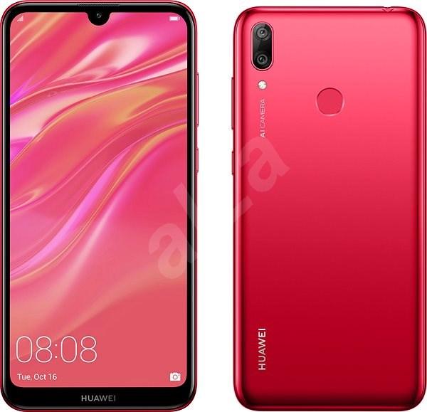 HUAWEI Y7 (2019) Red - Mobile Phone