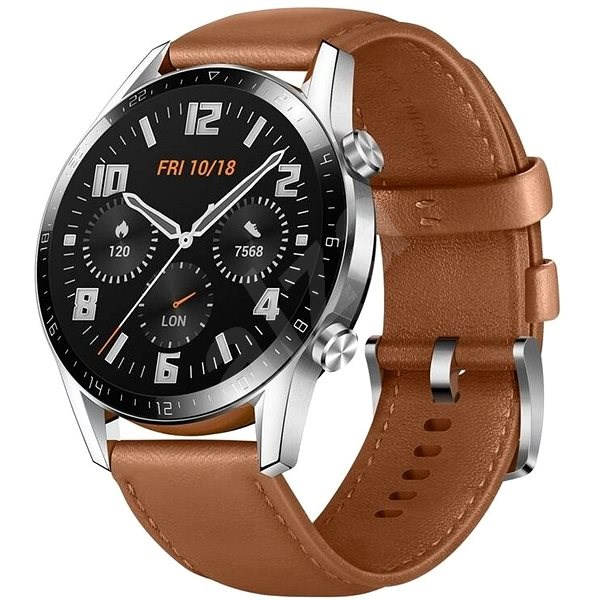 Huawei Watch GT 2 46 mm Brown Leather Strap - Chytré hodinky
