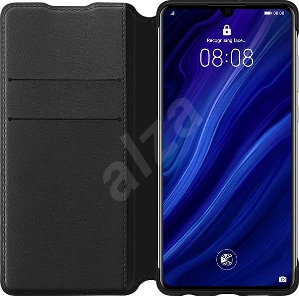 Huawei Original Wallet Case Black for P30 Lite - Mobile Phone Case