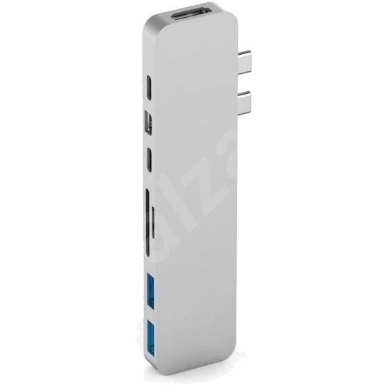 HyperDrive PRO USB-C Hub pro MacBook Pro - Stříbrný - USB Hub