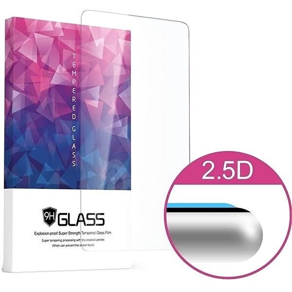 Icheckey 2.5D silk Tempered Glass protector Black pro Huawei Mate 20 - Ochranné sklo