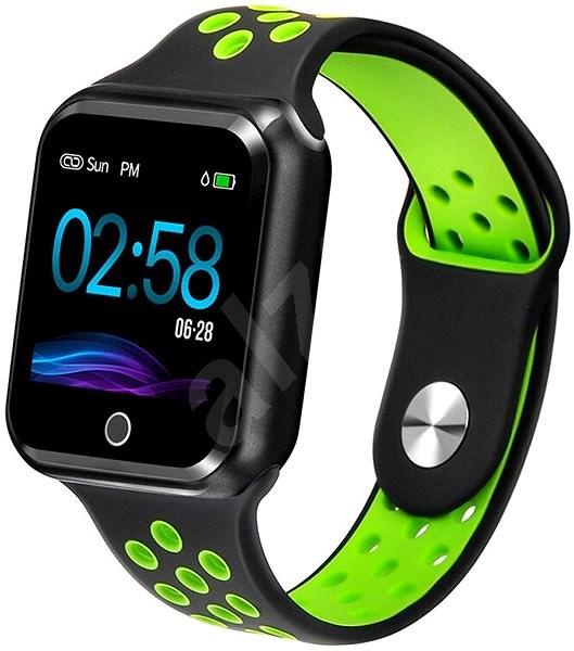 IMMAX SW10 černo-zelené - Chytré hodinky  0e953f0fb4