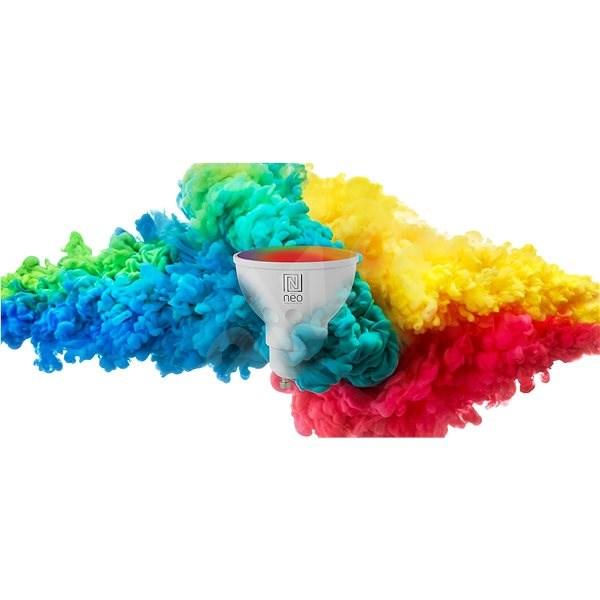 Immax Neo GU10 3,5W barevná, stmívatelná, Zigbee 3.0 - LED žárovka