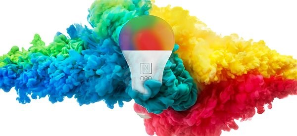 Immax Neo 2x E27 8,5W barevná, stmívatelná, Zigbee 3.0 + Ovladač - LED žárovka
