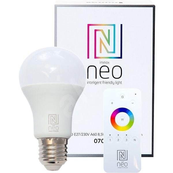Immax Neo E27 8,5W teplá bílá, stmívatelná + ovladač, Zigbee 3.0 - LED žárovka