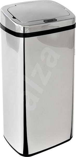 iQ-Tech Clasik Quadrat 40l, stříbrný - Odpadkový koš