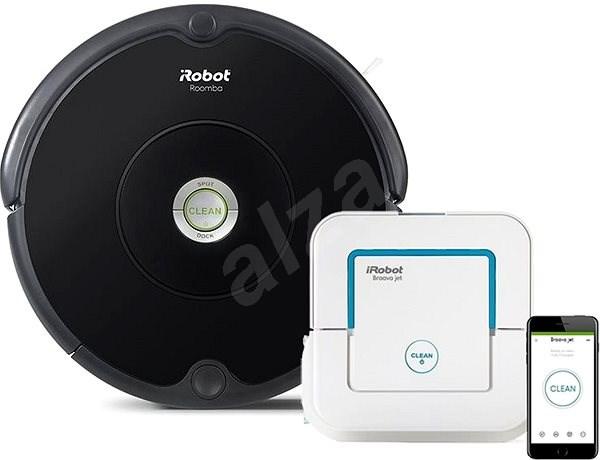 iRobot Roomba 606 + iRobot Braava Jet 240 - Robotický vysavač