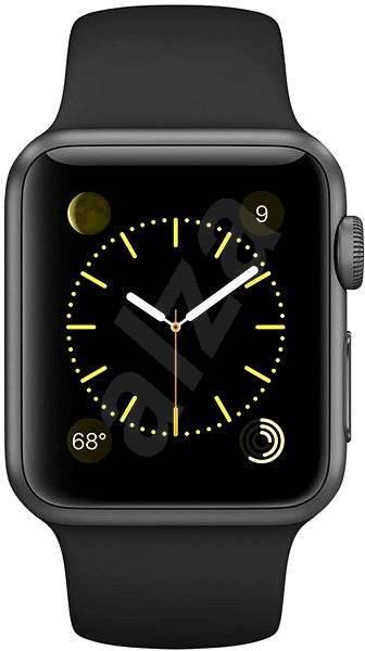 Apple Watch Sport 38mm Vesmírně šedý hliník s černým řemínkem - Chytré hodinky