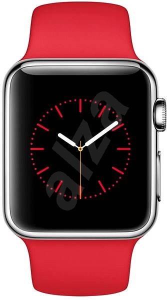67eac4730 Apple Watch 38mm Nerez ocel s červeným řemínkem - Chytré hodinky ...