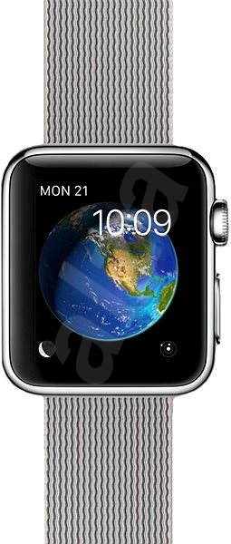 Apple Watch 38mm Nerez ocel s perlově šedým řemínkem z tkaného nylonu - Chytré hodinky