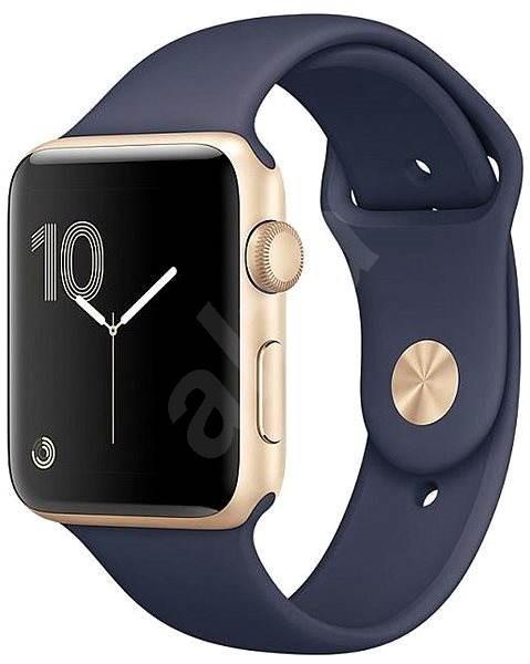 00a24ed5a25 Apple Watch Series 1 38mm Zlatý hliník s půlnočně modrým sportovním řemínkem  - Chytré hodinky