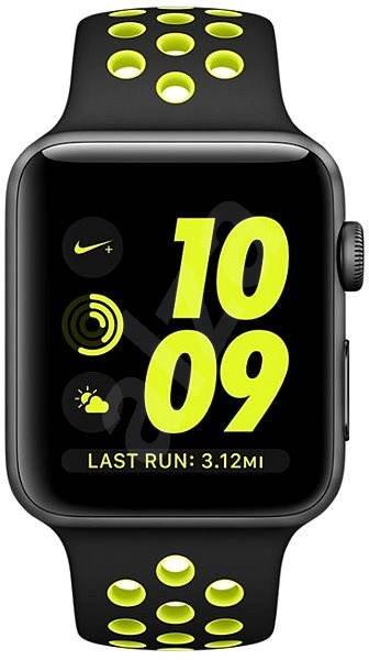 Apple Watch Series 2 Nike+ 38mm Vesmírně šedý hliník s černým   Volt  sportovním řemínkem Nike. PRODEJ SKONČIL. Chytré hodinky ... 9b0003ec9c