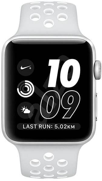 6ee737068 Apple Watch Series 2 Nike+ 42mm Stříbrný hliník s platinově bílým sportovním  řemínkem Nike - Chytré