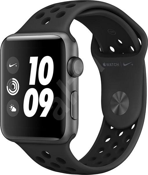 6cfb516a8 Apple Watch Series 3 Nike+ 42mm GPS Vesmírně šedý hliník s antracitovým sportovním  řemínkem Nike -