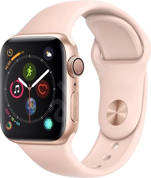 Apple Watch Series 4 40mm Zlatý hliník s pískově růžovým sportovním řemínkem - Chytré hodinky