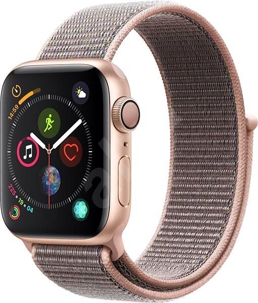 Apple Watch Series 4 40mm Zlatý hliník s pískově růžovým provlékacím sportovním řemínkem - Chytré hodinky