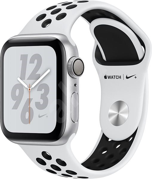 Apple Watch Series 4 Nike+ 40mm Stříbrný hliník s platinovým černým  sportovním řemínkem Nike - 8f57f3be5a