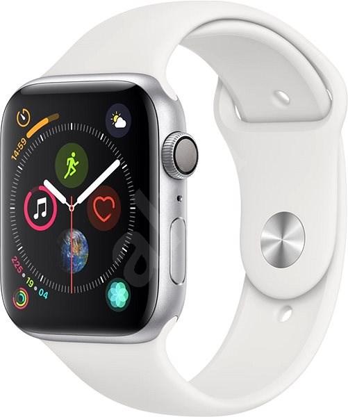 fee24bf2132 Apple Watch Series 4 44mm Stříbrný hliník s bílým sportovním řemínkem - Chytré  hodinky