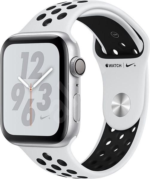 a6725f9b8 Apple Watch Series 4 Nike+ 44mm Stříbrný hliník s platinovým/černým  sportovním řemínkem - Chytré