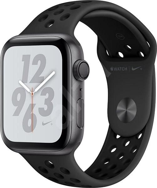 8a41d3c5d Apple Watch Series 4 Nike+ 44mm Vesmírně černý hliník s antracitovým/černým  sportovním řemínkem -