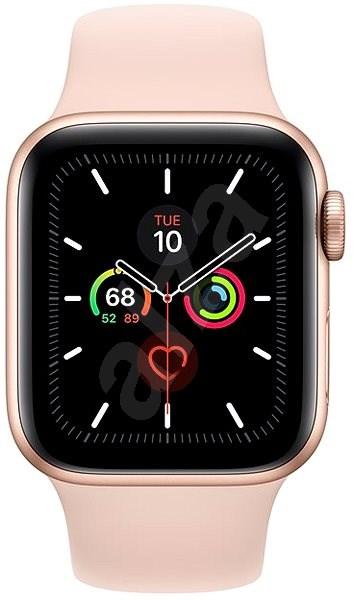 Apple Watch Series 5 40mm Zlatý hliník s pískově růžovým sportovním řemínkem - Chytré hodinky