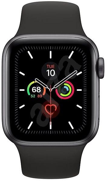 Apple Watch Series 5 40mm Vesmírně šedý hliník s černým sportovním řemínkem - Chytré hodinky