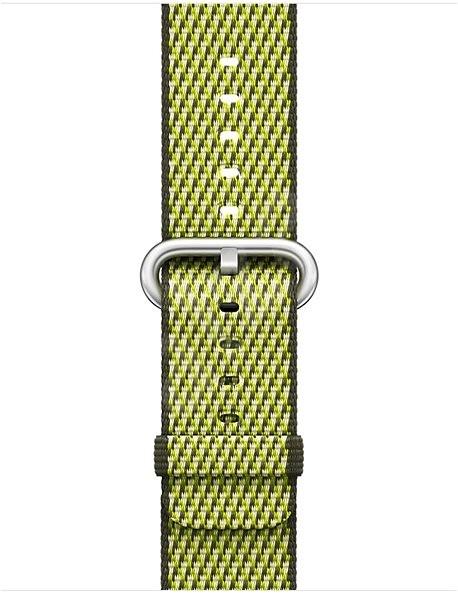 Apple 38mm Tmavě olivový z tkaného nylonu (prošívání) - Řemínek