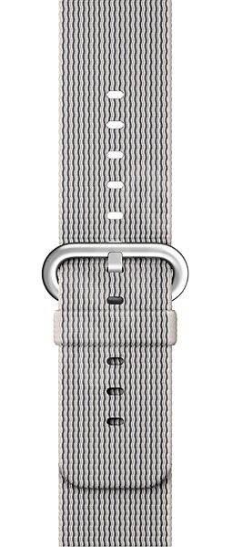 Apple Sport 42mm  Perlově šedý z tkaného nylonu - Řemínek