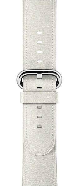 Apple 42mm Bílý s klasickou přezkou - Řemínek