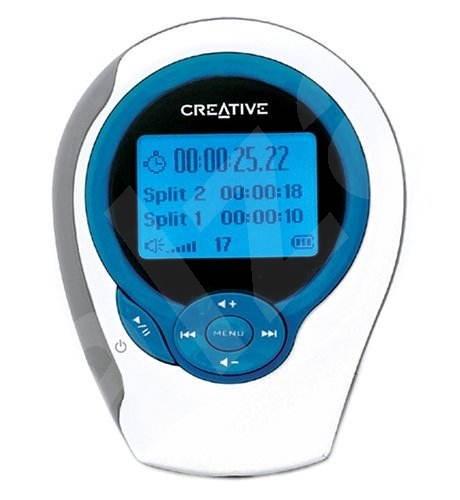 Creative MuVo C100 Sport FM 256MB bílý (white), MP3/ WMA player, FM tuner, velký LCD display, USB - MP3 přehrávač