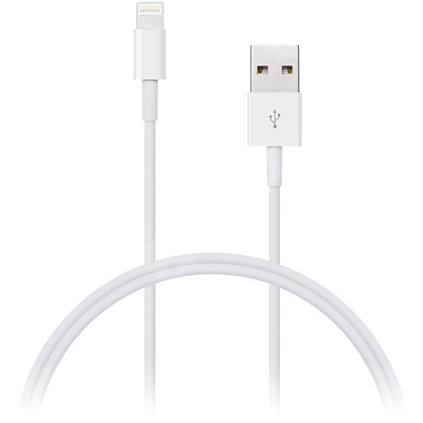 CONNECT IT Wirez Lightning Apple 2m bílý - Datový kabel