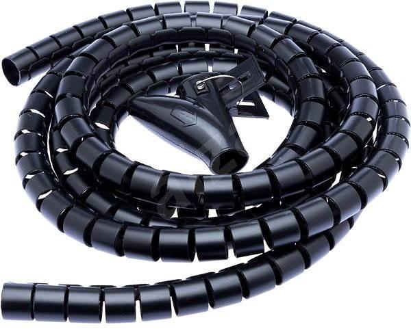 CONNECT IT CableFit WINDER černá 2.5m - Organizace kabelů