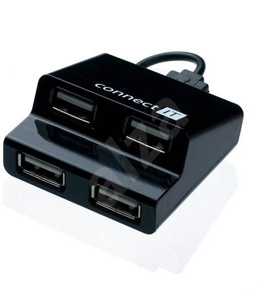 CONNECT IT CI-108 Step černý - USB Hub