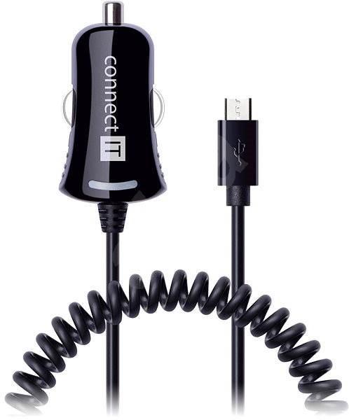 CONNECT IT CI-436 Car Charger Twist Micro USB černá - Nabíječka do auta